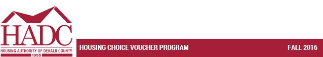 Housing Choice Voucher Program - Fall 2016