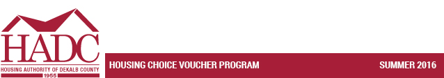 Housing Choice Voucher Program - Spring 2016