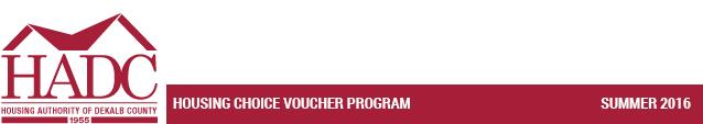 Housing Choice Voucher Program - Spring 2016