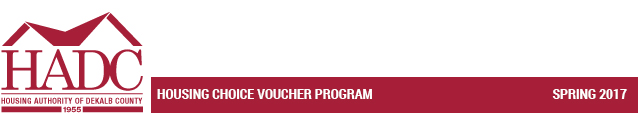 Housing Choice Voucher Program - Spring 2017