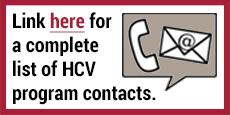 HCV Program Contact Information