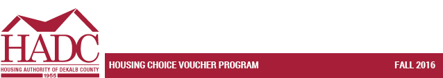 Housing Choice Voucher Program - Fall 2016